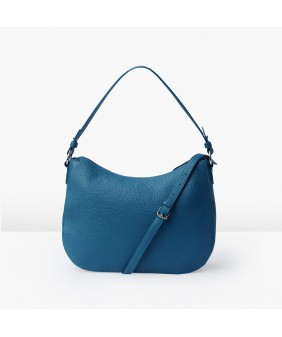 LUNA Hobo - In Natural Milled Leather - Egyptian Blue