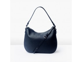 LUNA Hobo - In Natural Milled Leather - Black, GX01-10