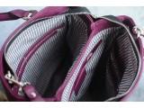 SPRING Satchel bag - In Natural Milled Leather - Blue sea