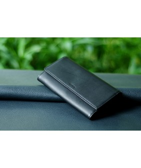 WALLET - In Natural Milled Leather - Black