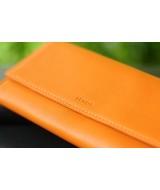 WALLET  - In Natural Milled Leather - Orange