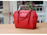 SECRET Tote Bags - In Natural Milled Leather - Red