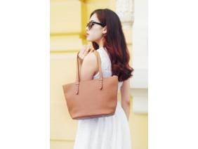 KIARA Tote bag - In Natural Milled Leather - Brown-GW01-20
