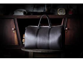 MISSION BAG -  In Natural Milled Leather - Black