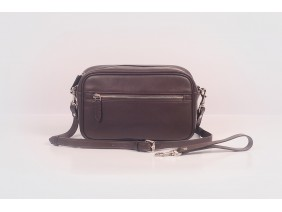 Clutch and Crossbody - In Natural Milled Leather - Brown- GV96-26