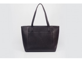 FAR-FLU Tote - In Natural Milled Leather - Black
