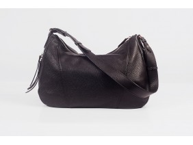 VARIA Hobo - In Natural Milled Leather - Black- GQ01-10