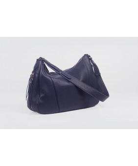 VARIA Hobo - In Natural Milled Leather - Blue Navy