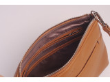 Crossbody bag - In Natural Milled Leather - Brown