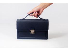 Bag - In Natural Milled Leather - Black