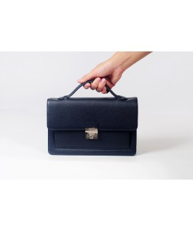 Bag - In Natural Milled Leather - Black