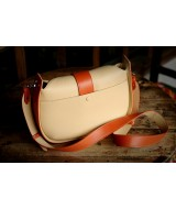 SASSY Crossbody - In Natural Milled Leather -  Black