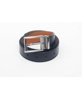 Men's belts - In Natural Milled Leather -  Black & Brown 3cm
