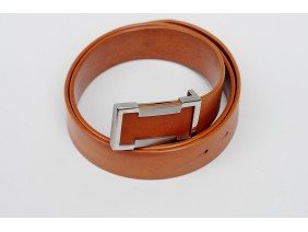 Men's belts - In Natural Milled Leather - Yelow 3.8cm