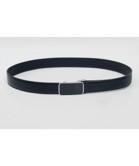 Men's belts - In Natural Milled Leather -  Black 3.5cm