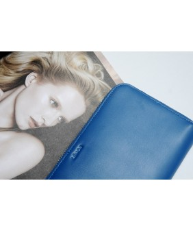 LEWA  - IN NATURAL MILLED LEATHER - EGYPTIAN BLUE