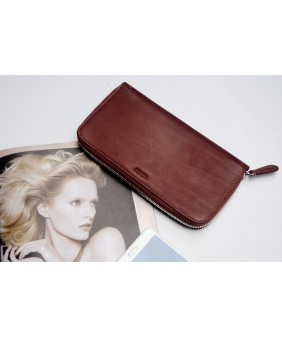 LEWA  - In Natural Milled Leather - Brown Red