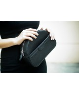 SWEET Crossbody - In Natural Milled Leather -  Black