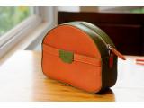 SWEET Crossbody - In Natural Milled Leather - Orange vs Blue Oliu
