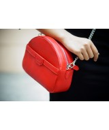 SWEET Crossbody - In Natural Milled Leather - Red