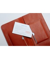 SIMWALL- In Natural Milled Leather - Orange
