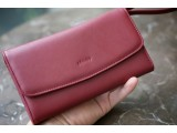 ALIS-In Natural Milled Leather - Deep Red