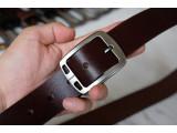 KONG -Dây thắt lưng nam da thật 1 lớp nguyên miếng Màu nâu - YJ60-20