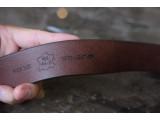 KONG -Dây thắt lưng nam da thật 1 lớp nguyên miếng Màu nâu - YJ61-20