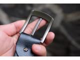 KONG -Dây thắt lưng nam da thật 1 lớp nguyên miếng Màu đen - YJ65-10