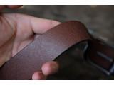 KONG -Dây thắt lưng nam da thật 1 lớp nguyên miếng  Màu nâu - YJ66-20