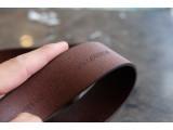 KONG -Dây thắt lưng nam da thật 1 lớp nguyên miếng - Màu nâu