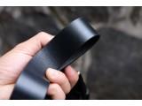 KONG -Dây thắt lưng nam da thật 1 lớp nguyên miếng - Màu đen