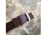 KONG -Dây thắt lưng nam da thật 1 lớp nguyên miếng  Màu nâu - YJ88-20