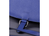 PUMBAA Crossbody - In Natural Milled Leather - Egyptian Blue