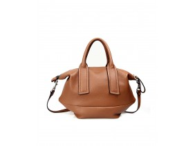 ELMO Crossbody - In Natural Milled Leather - Brown
