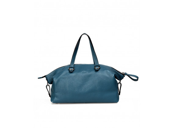 BIMO Shell - In Natural Milled Leather - Teal