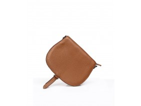 PUMBAA Crossbody - In Natural Milled Leather - Brown