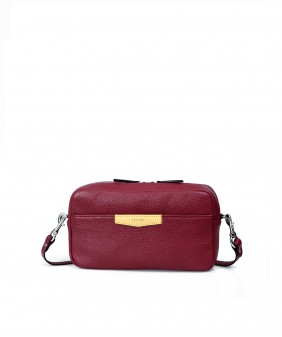 XMAS Clutch and Crossbody - In Natural Milled Leather - Maroom