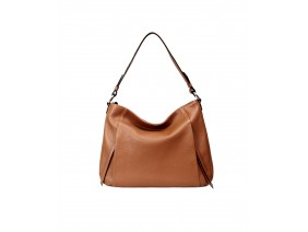 PATOO  Hobo - In Natural Milled Leather - Brown- FP11-20
