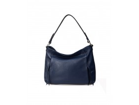 PATOO  Hobo - In Natural Milled Leather - Blue Navy -FP11-71